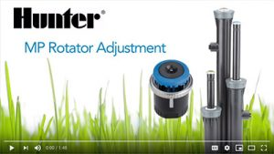 Adjusting MP Rotator Sprinkler Heads